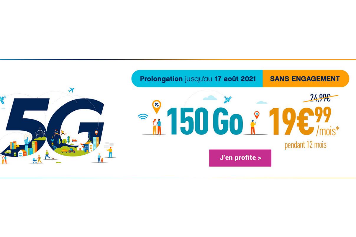 Forfait 5G sans engagement Coriolis Telecom
