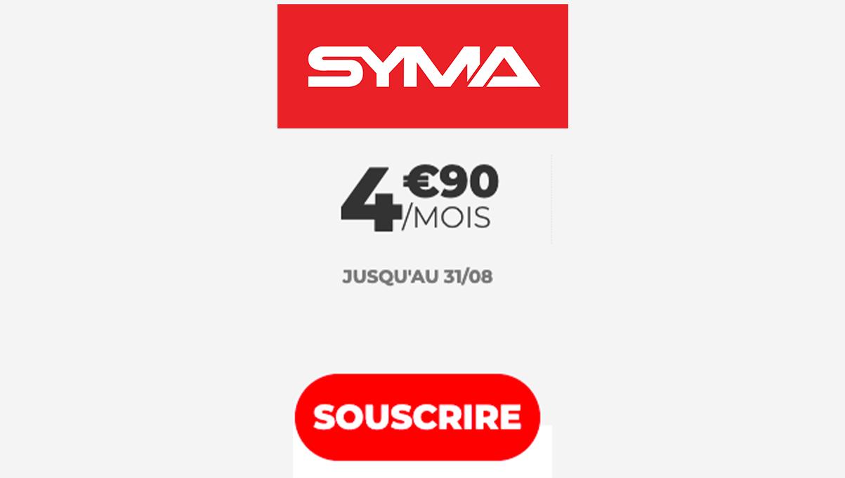 Forfait pas cher Syma Mobile