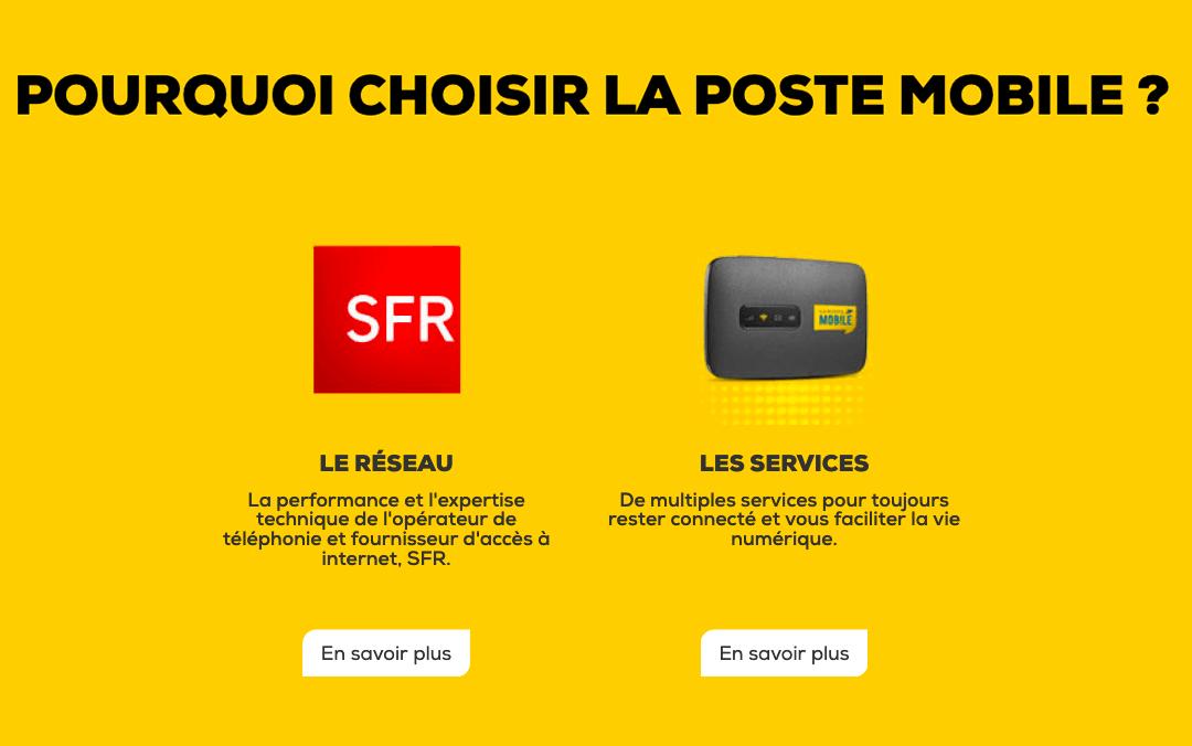 Les services La Poste Mobile