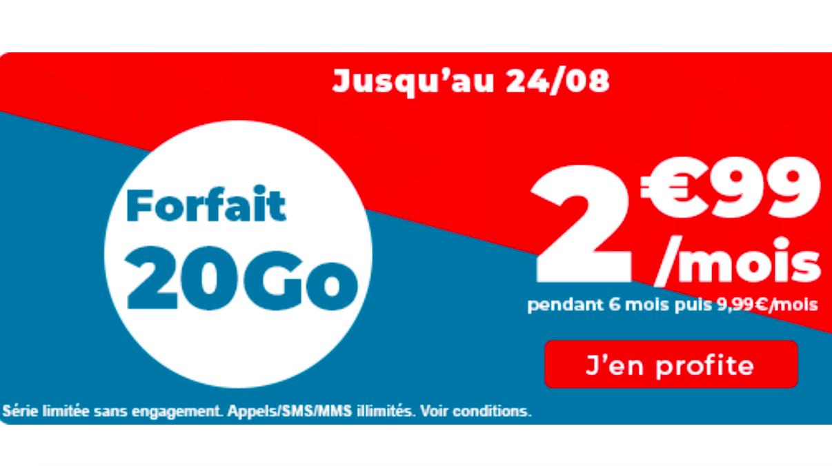 Promos sur les forfaits mobiles Auchan Telecom