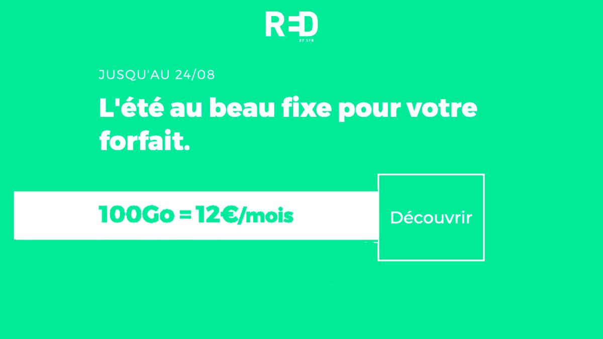 RED by SFR et son forfait 4G pas cher 100 Go