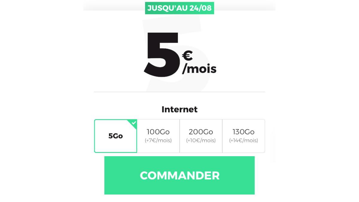 Le forfait 5 Go de RED by SFR est disponible