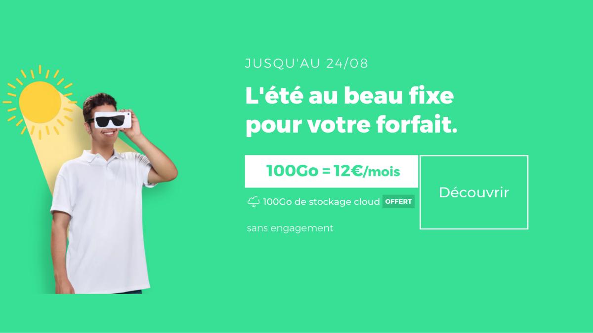 Le forfait 4G de RED by SFR offre 100 Go