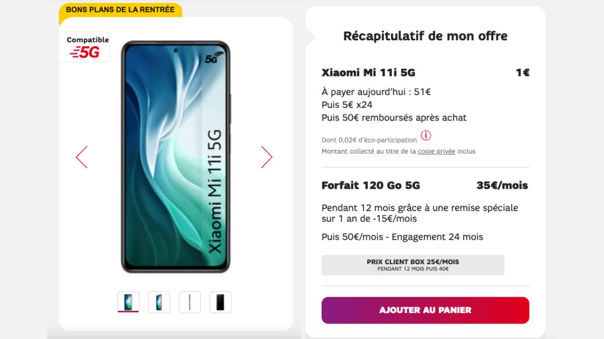 Le forfait mobile avec le Xiaomi Mi 11i est en promotion