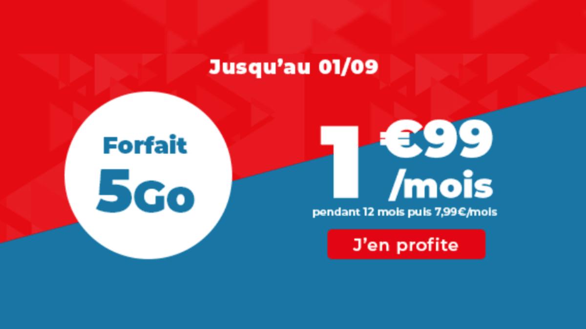 Le forfait 5 Go Auchan Telecom