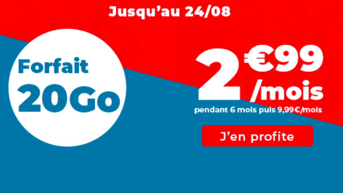 Le forfait Auchan telecom de 20 Go