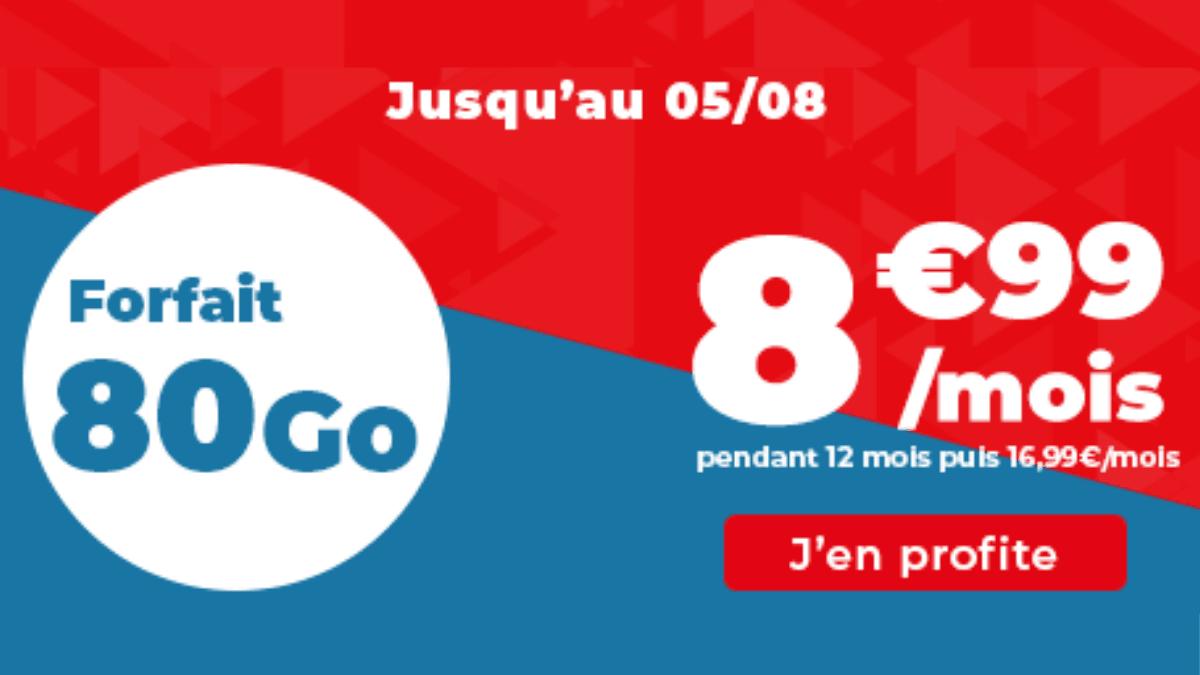 80 Go promo Auchan Telecom forfait pas cher