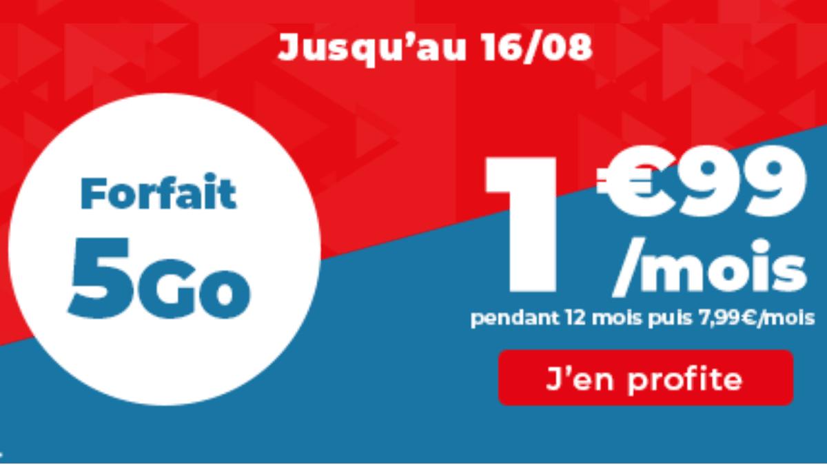 Le forfait 4G 5 Go Auchan Telecom