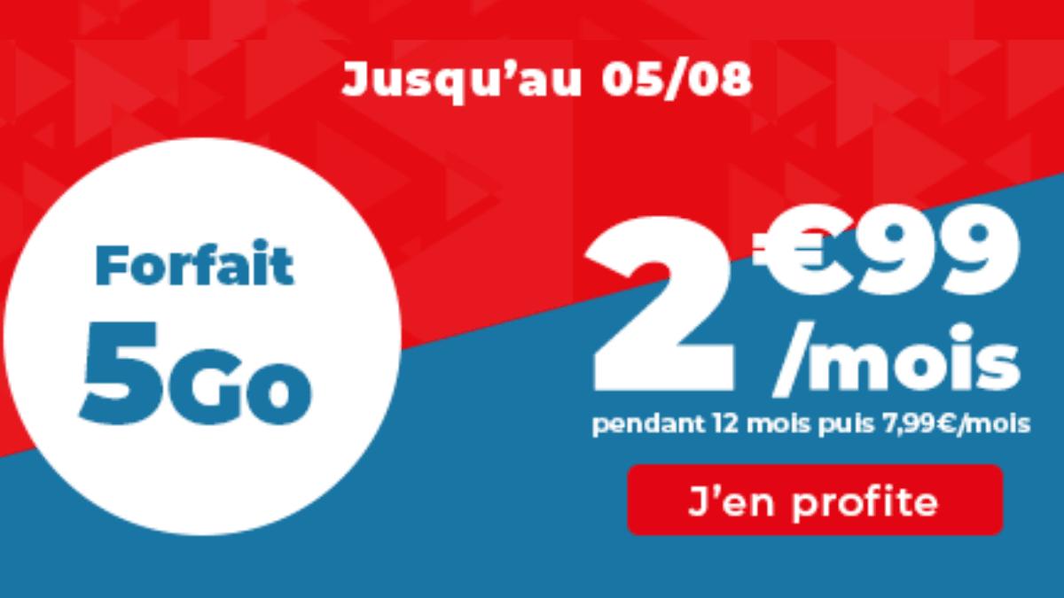 Derniers jours promotion forfait 5 Go Auchan Telecom