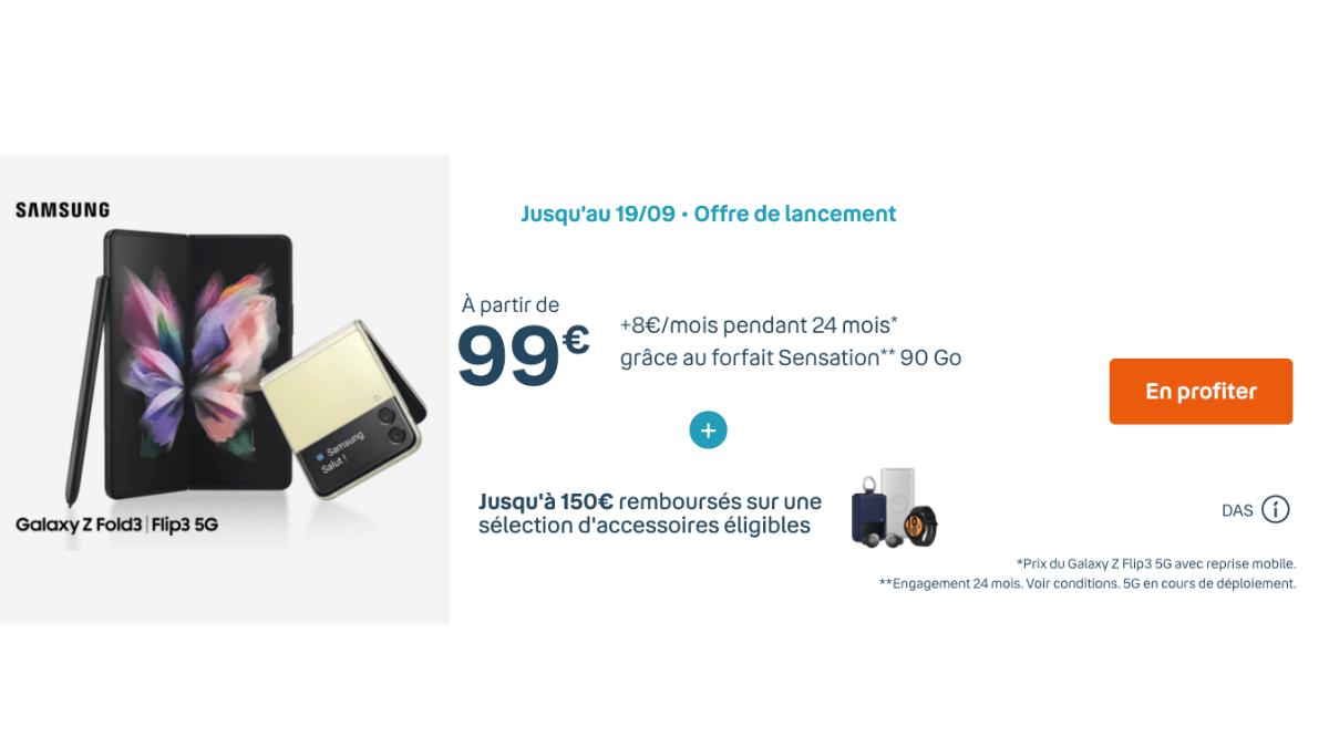 promotion avec le forfait Sensation 90 Go Bouygues Telecom