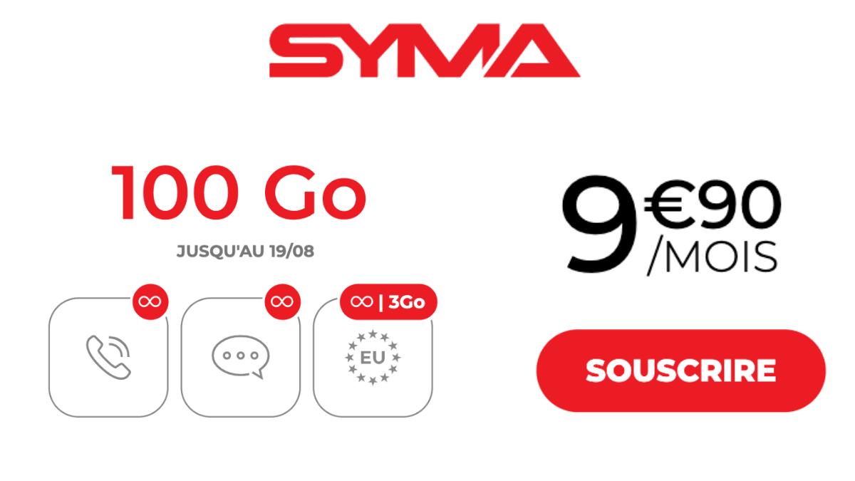 Forfait data réseau Orange Syma