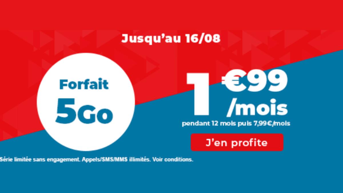 Forfaits mobiles Auchan 5 Go