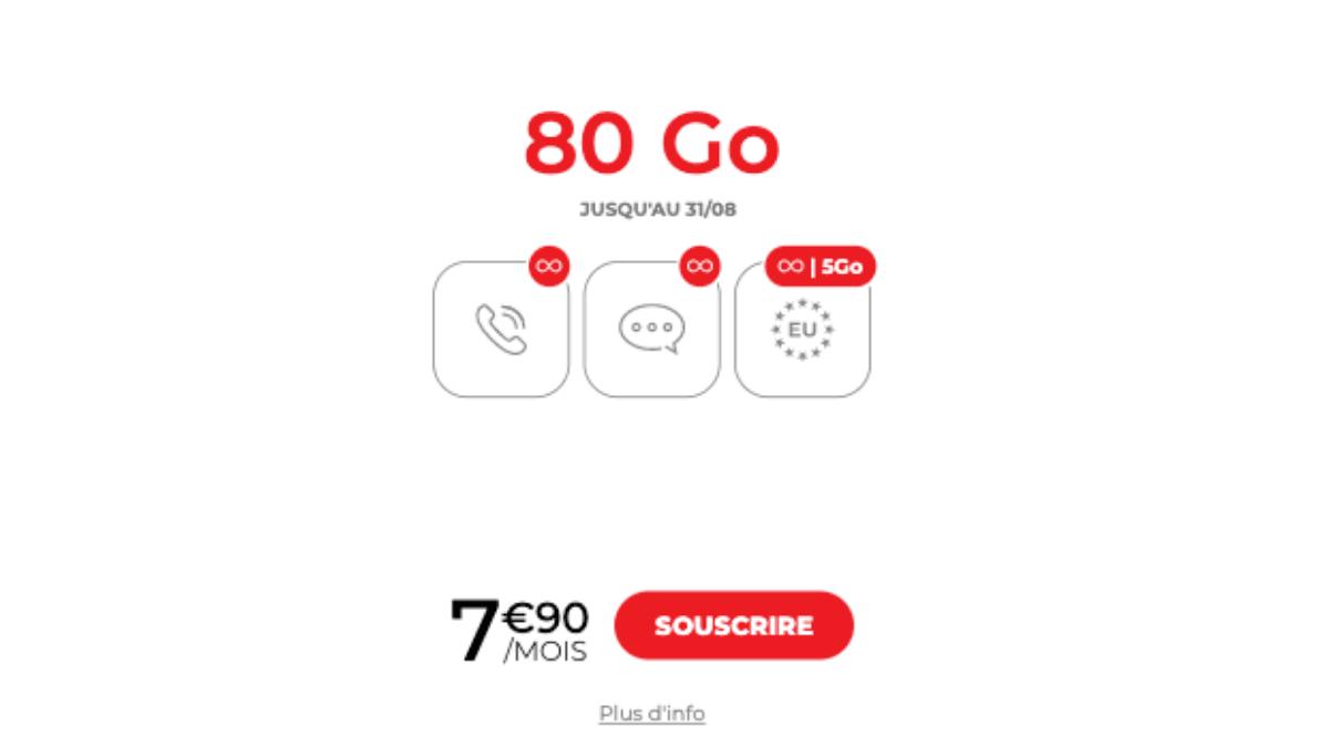 80 Go forfait mobile syma