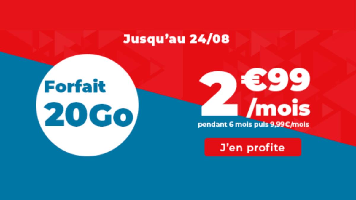 Forfait pas cher Auchan 20 Go