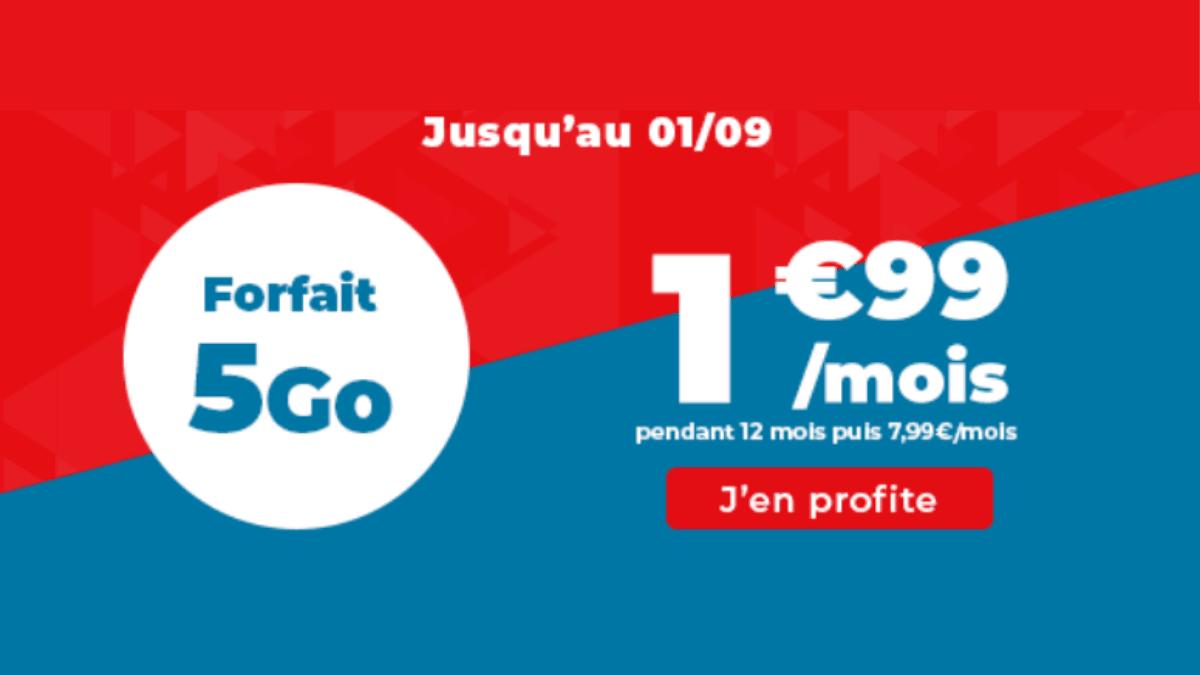 Forfait pas cher Auchan 5 Go
