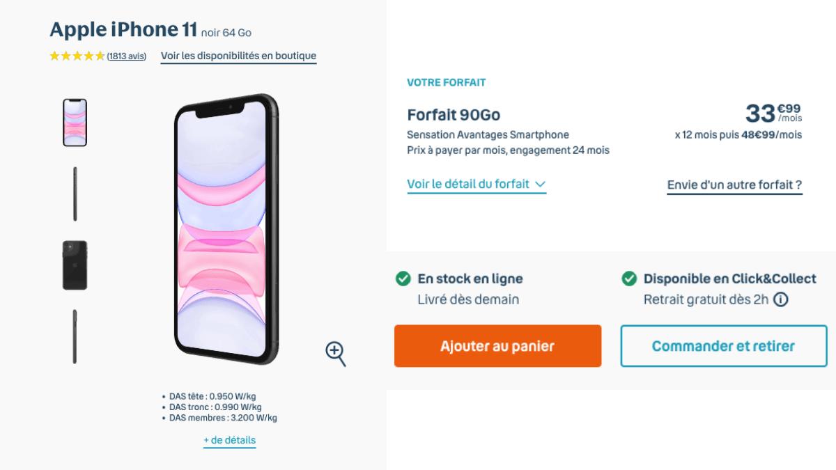 promo forfait 90 Go iPhone 11