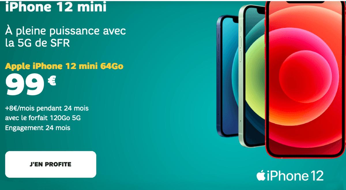 Forfait SFR 35€/mois avec un iPhone 12 mini