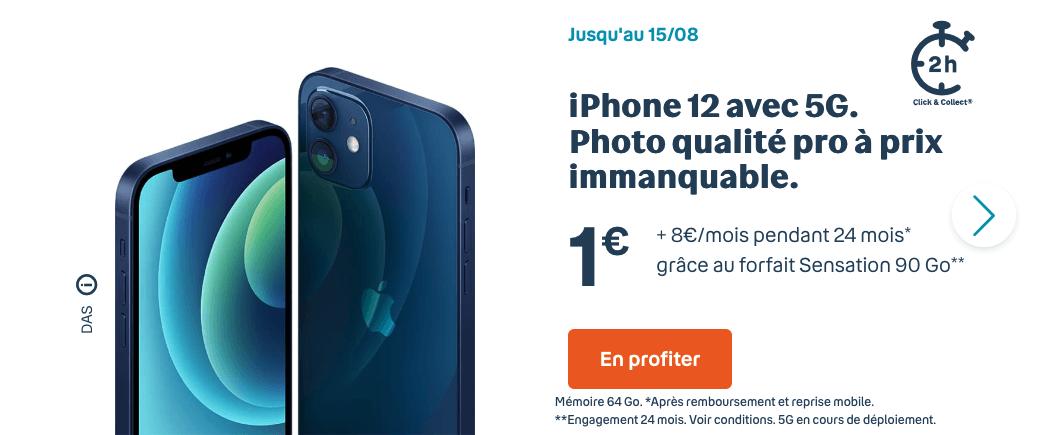 L'iPhone 12 en promotion avec Bouygues Telecom