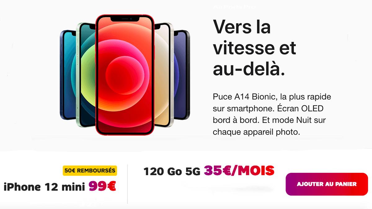 iPhone 12 mini en promo chez SFR