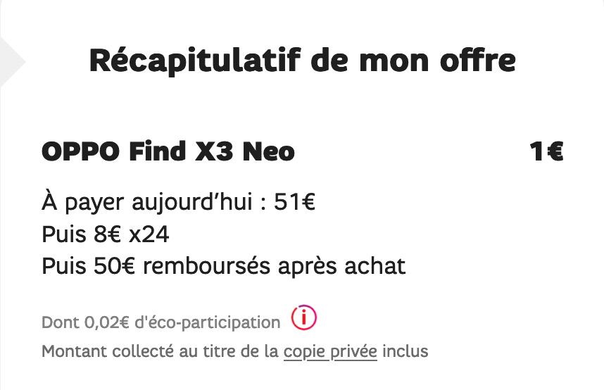 smartphone à 1€