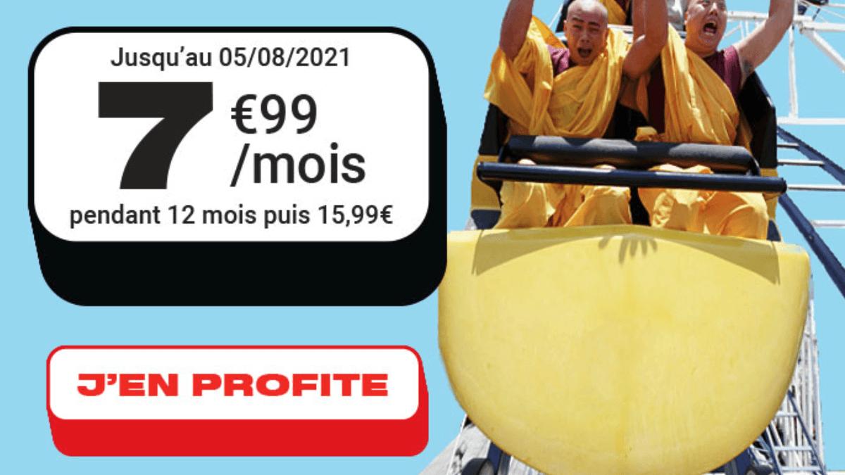 Moins de 10€ pour un forfait mobile 70 Go chez NRJ Mobile