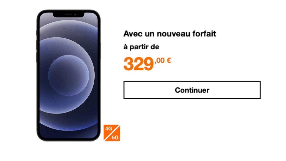 l'iPhone 12 chez Orange
