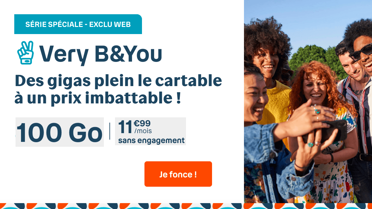 Le forfait B and You 100 Go pour 11,99€