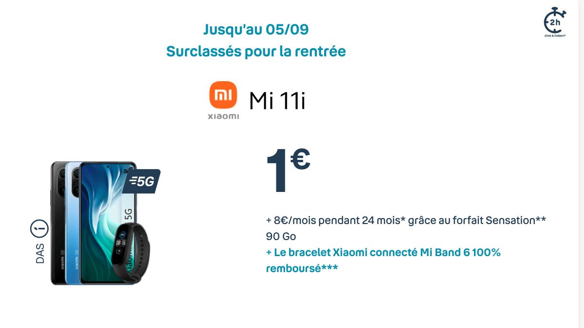 Souscrire un forfait Bouygues pour bénéficier du Xiaomi Mi 11i à 1€