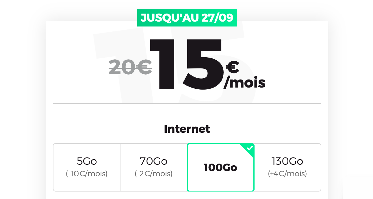 Forfait mobile 100 Go RED by SFR