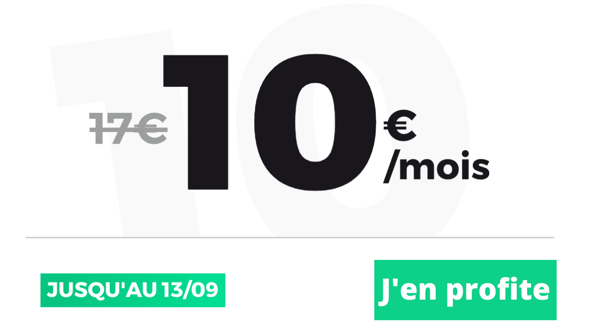 80 Go forfait pas cher dix euros