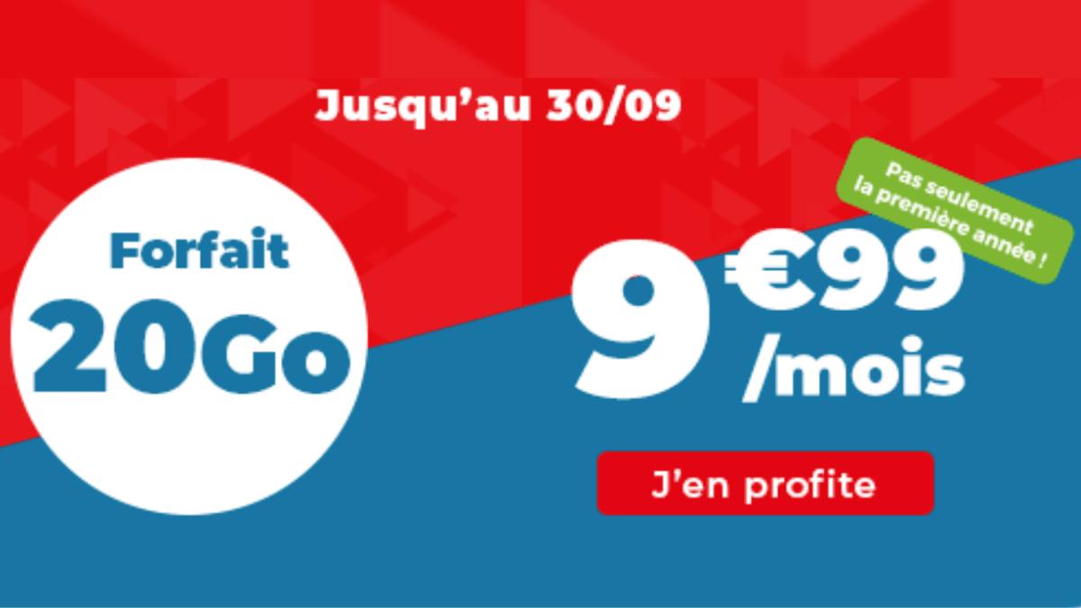 Promotion continue sur le forfait 20 Go chez Auchan Telecom