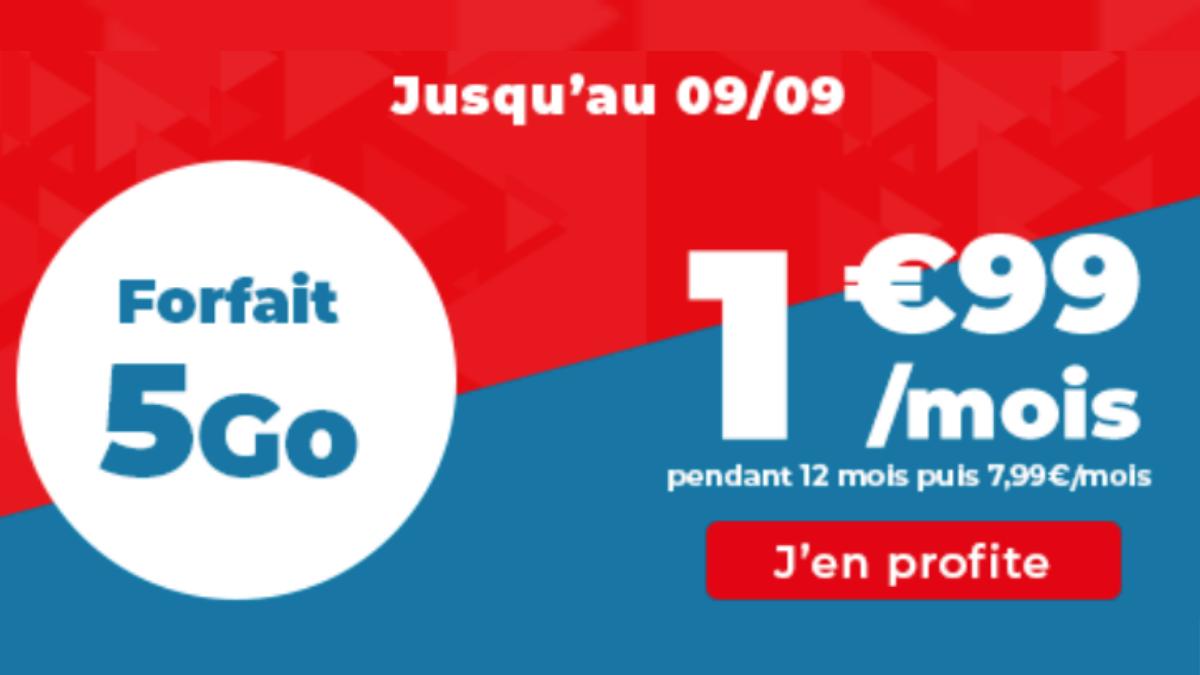 Promotion sur le forfait 5 Go proposé par Auchan Telecom