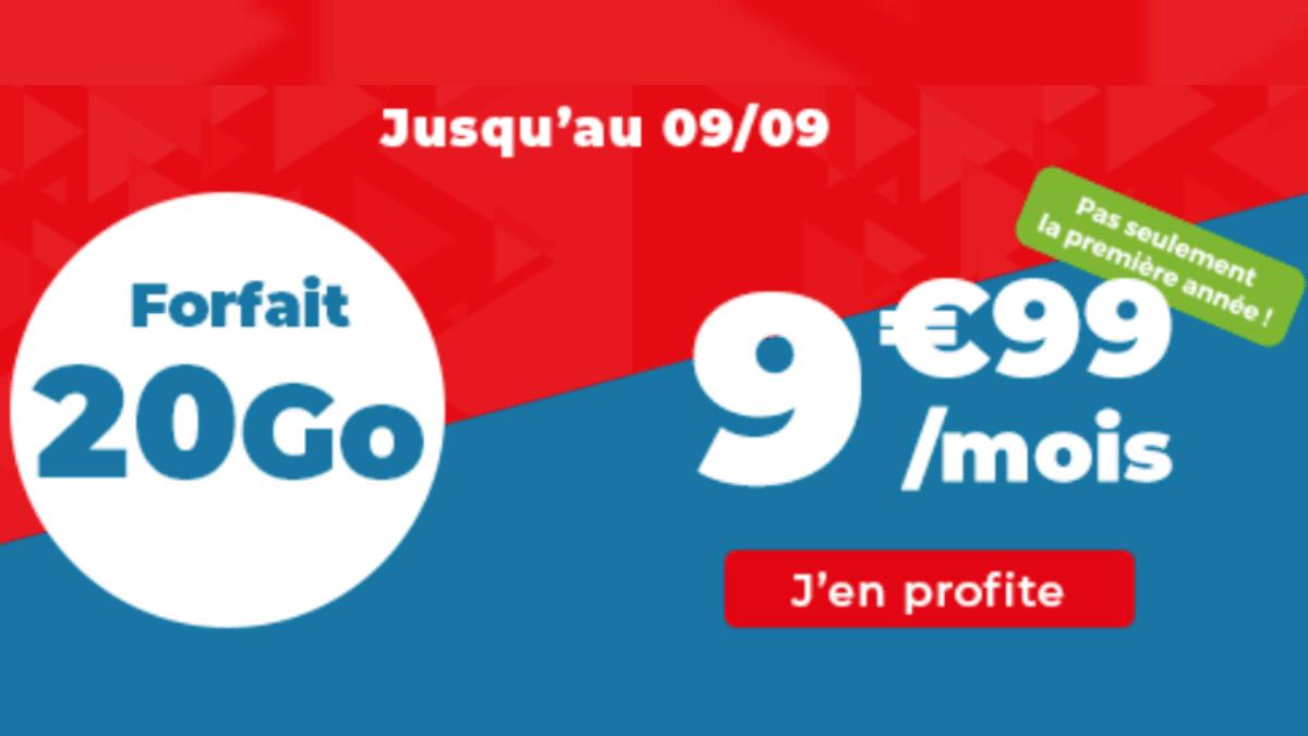 Promotion sur le forfait mobile 20 Go Auchan Telecom