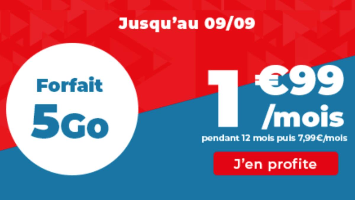 Promotion sur le forfait 5 Go d'Auchan Telecom