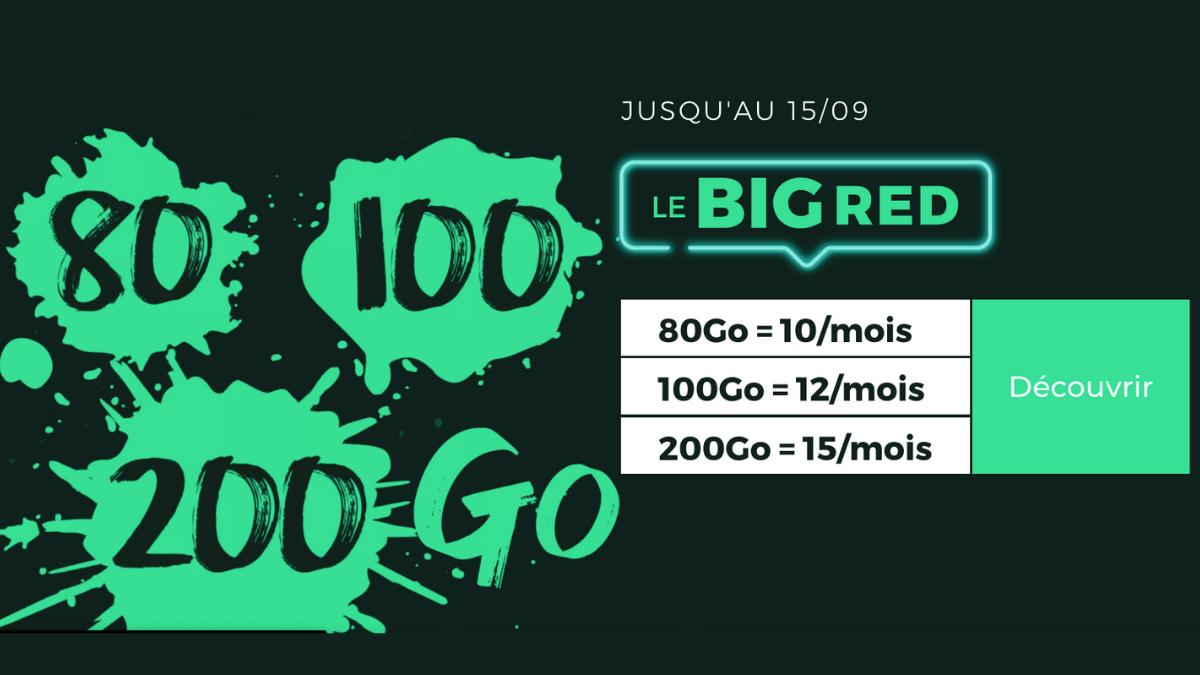 Forfait 200 Go en promotion chez RED by SFR