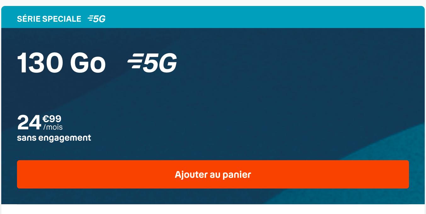 Promo forfait 5G sans engagement B&YOU