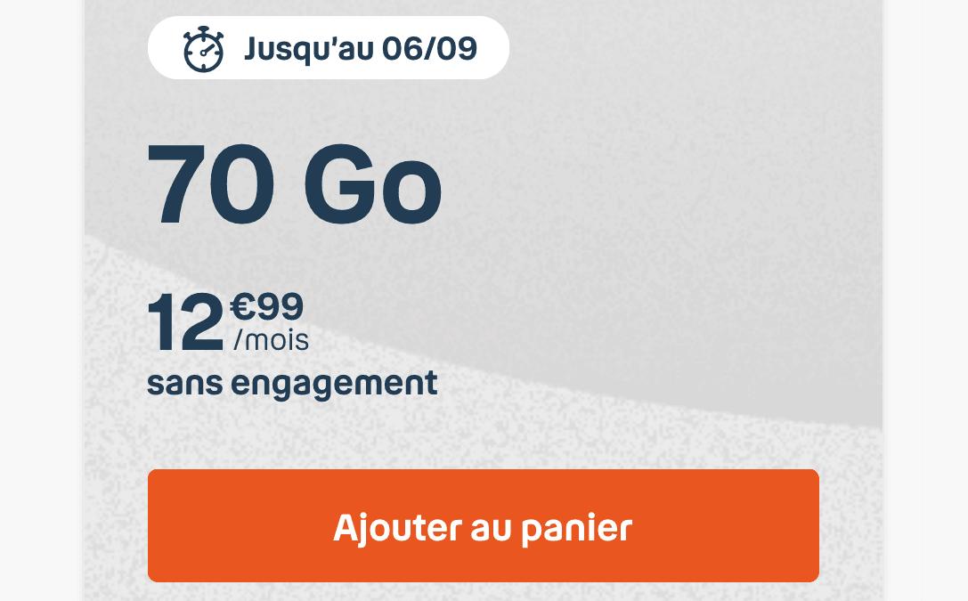 Le forfait mobile B&You 70 Go