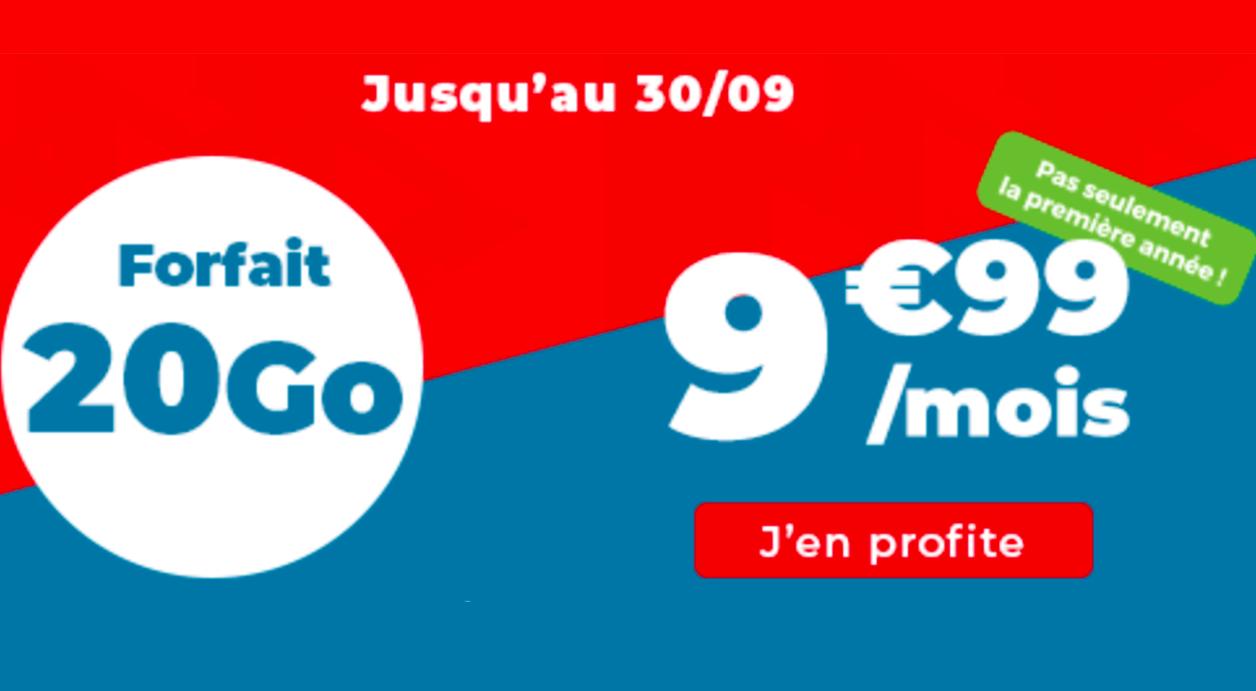 Forfaits Auchan Telecom en promo 20 Go