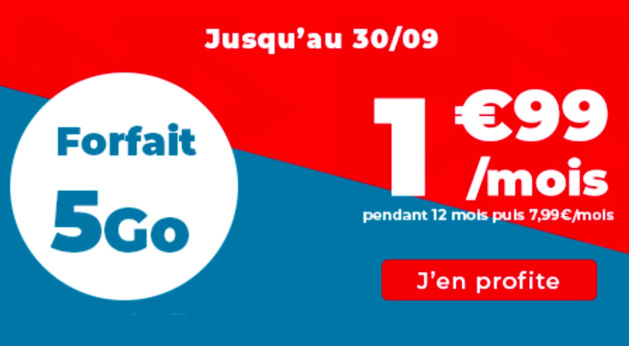 Forfaits Auchan Telecom en promotion 5 Go