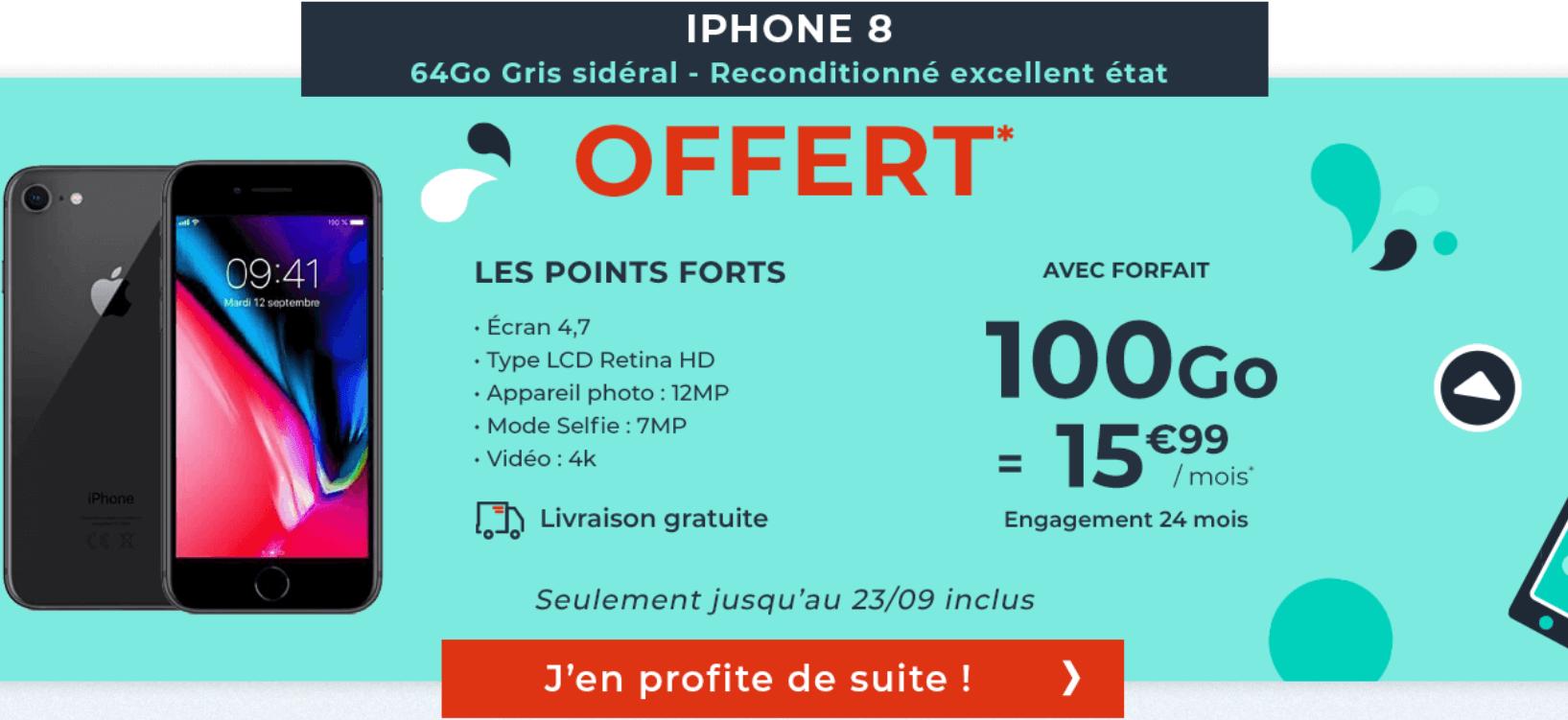 Forfaits mobiles Cdiscount avec iPhone 8 en promo