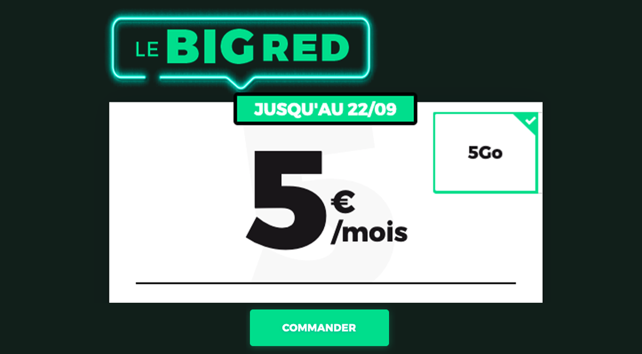 Big RED forfait RED by SFR 5 Go
