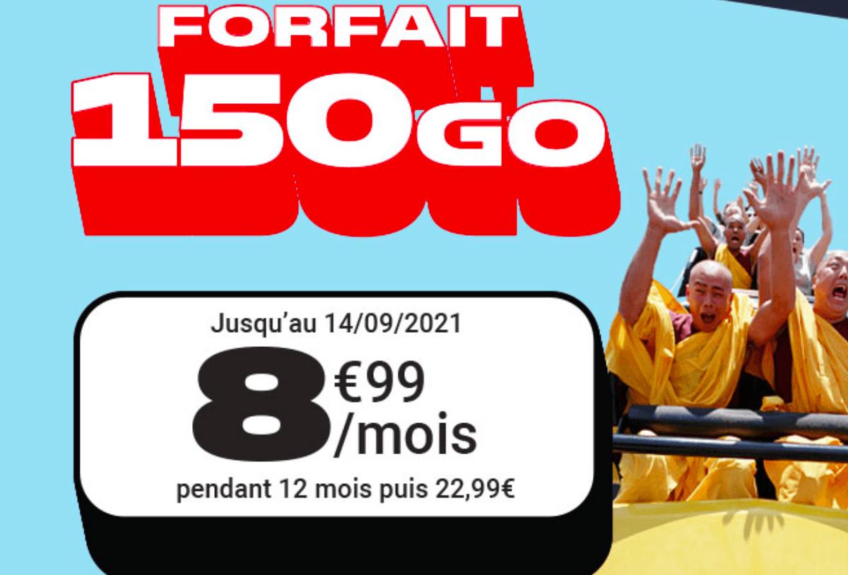Forfaits pas chers 150 Go NRJ Mobile