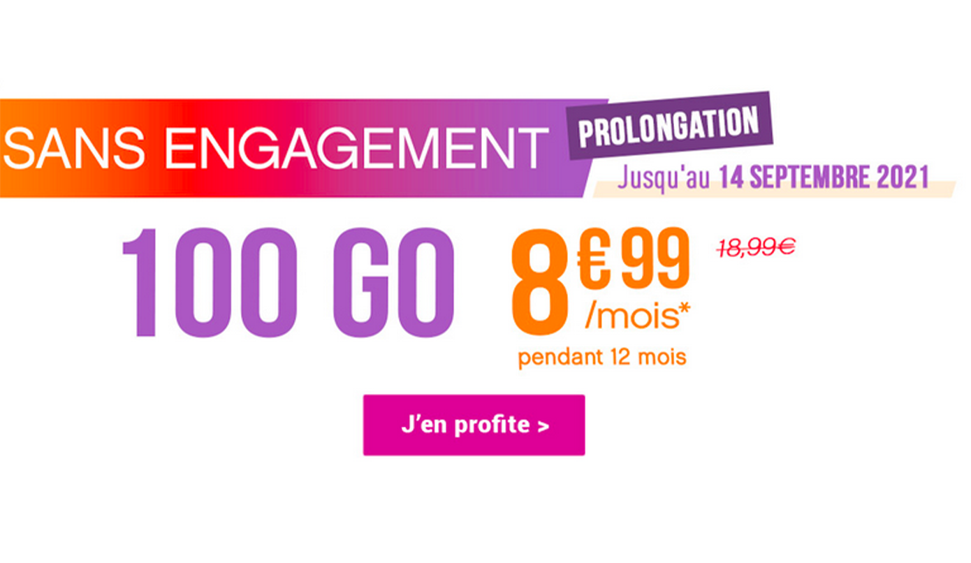 Forfaits sans engagement 100 Go Coriolis Telecom