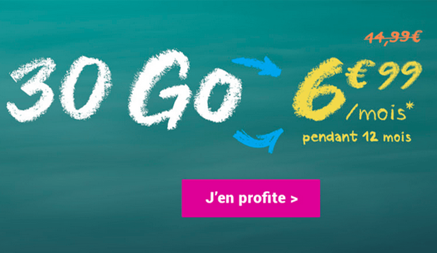 Forfaits sans engagement 30 Go Coriolis Telecom