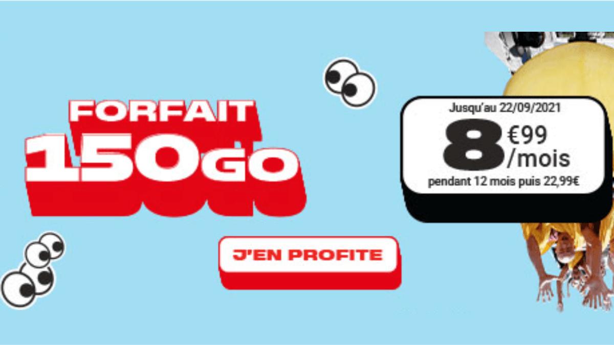Le forfait 150 Go chez NRJ Mobile est disponible
