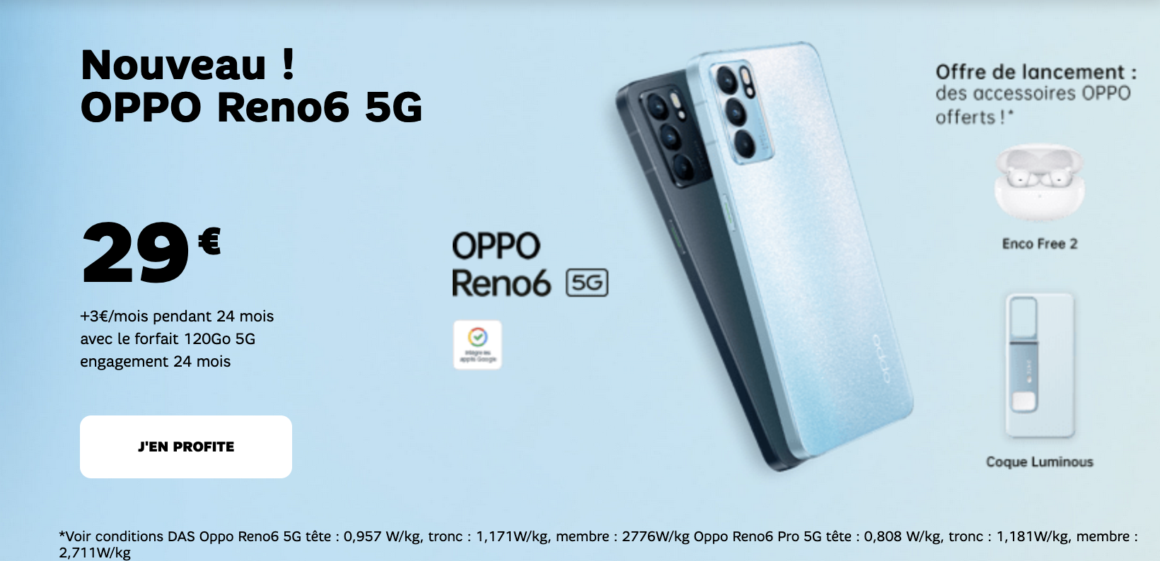 OPPO Reno6 SFR