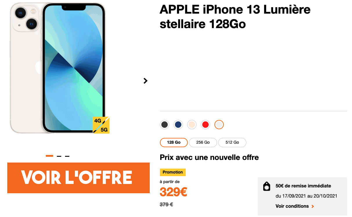 Promo iPhone 13 Orange