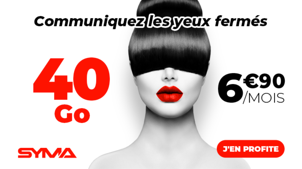 Promo sur le forfait 40 Go de Syma Mobile