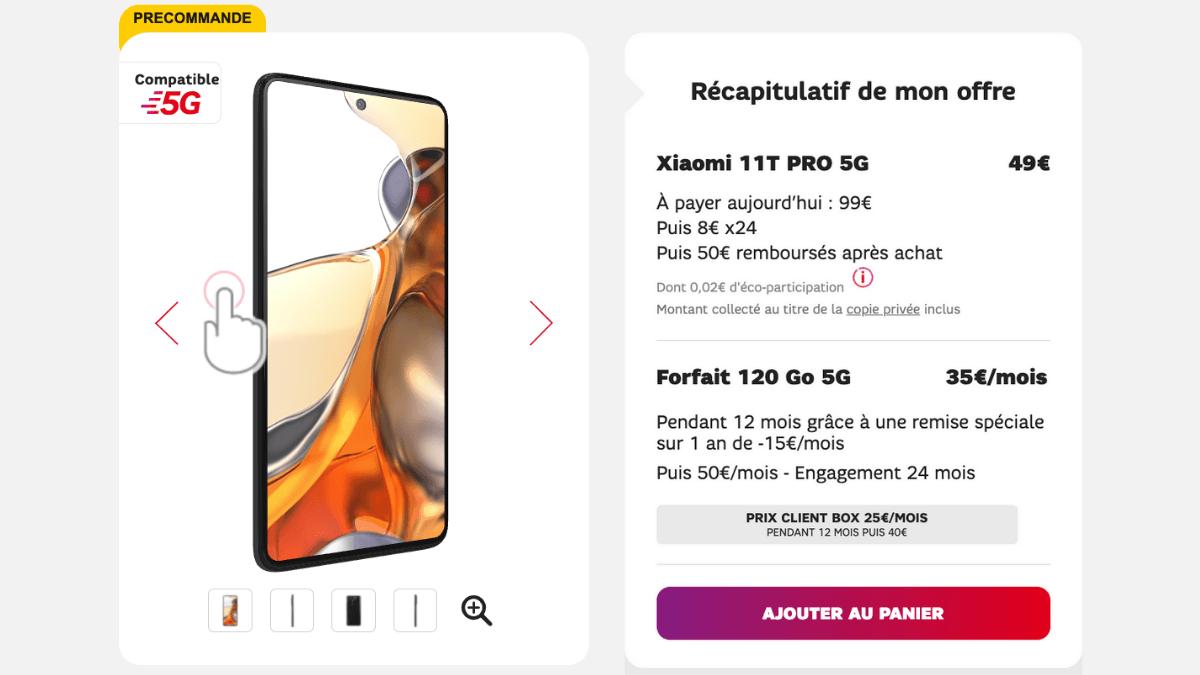 Nouveau Xiaomi 11T Pro disponible chez SFR