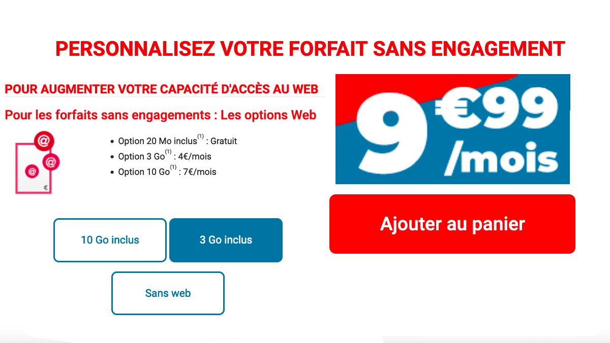 Auchan Telecom 20 go pour 9,99€